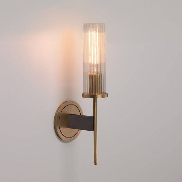 Bathroom Wall Lamp sconce with glass lampshade Bedside E14 led wall light fixture for bedroom Corridor Mirror led wall fixtures