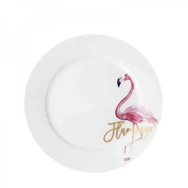 10inch Creative Hand Painted Flamingo Pattern Plate Home Breakfast Spaghetti Omelette Saucer Steak Dish Bone Dinnerware