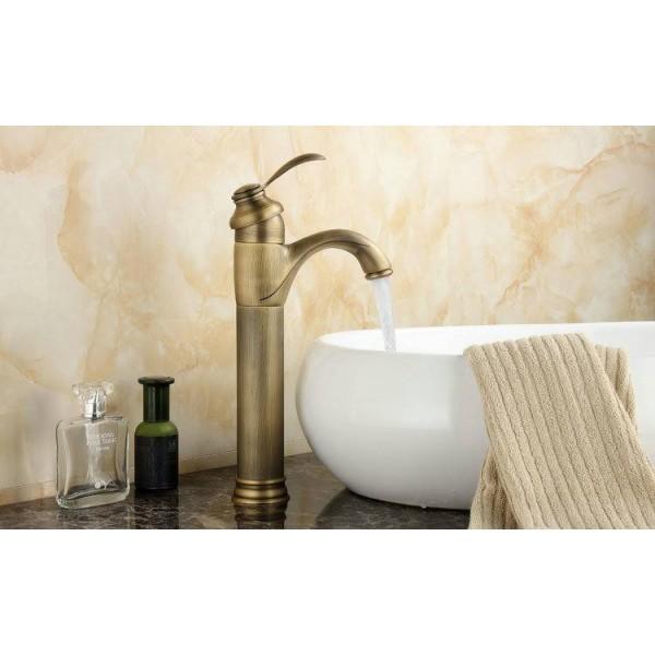 """13"""" Antique Brass Bathroom Basin Faucet Antique Brass Mixer Tap 9026A"""