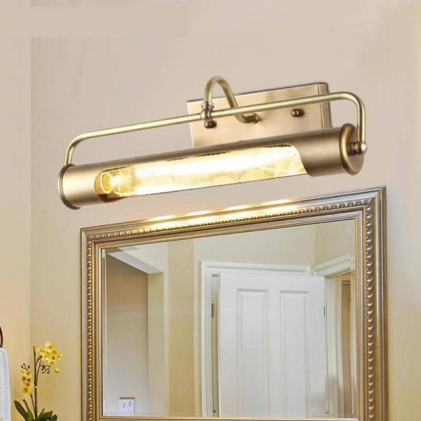 new design Long tube Waterproof mirror Light Real copper Mirror front light AntiRust makeup LED Luminaire Bathroom Lamp