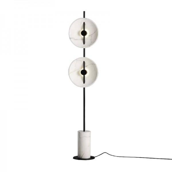 Nordic Simple Marble LED Floor lamps Designer Living room Bedroom Standing lamp Iron Art rod Lighting fixture