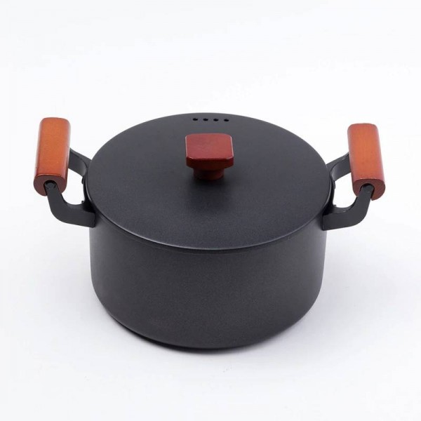 2019 Newest High Quality Family Soup Pot 4.5L Cast Iron Stockpot Cooking Pot For Gas Stove Induction Cooker