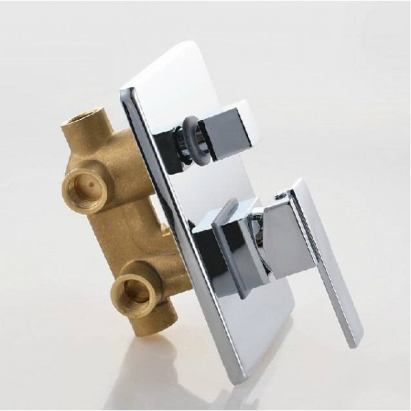 3 Outlets Mixer Control Valve Panel Shower Faucet Bathroom Brass Concealed Wall Mounted