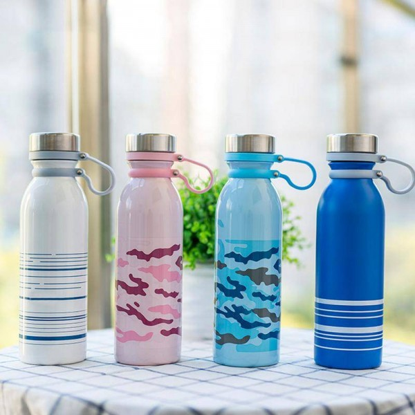 600ml Portable Double Wall Thermos Stainless Steel Insulated Water Bottle Vacuum Flask Thermoses Cup Sport Travel Coffee Mug