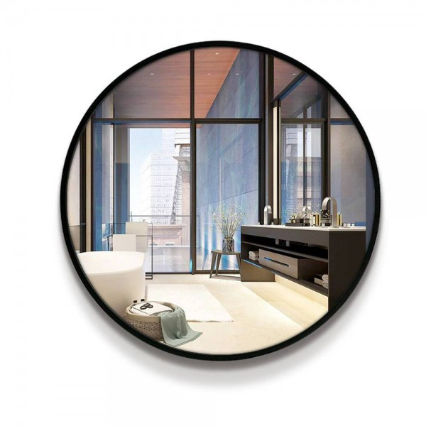 A1 Bathroom mirror toilet wall mirror style circular wall mounted bedroom living room toilet make up mirror wx8221848