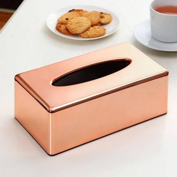 ABS Plating Rose Gold Tissue Box Holder Living Room Kitchen Restaurant Toilet Paper Napkins Holder Lslak Mendil Kutusu