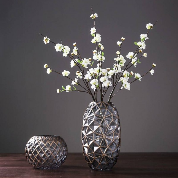 American Glass Vase Decoration Home Decoration Table Decoration Vase Hand-painted Gold Vase