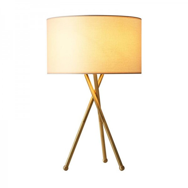 American style real brass table lamps simple foyer bedroom study Gold reading lamps Creative bedside Lighting fixture E27 bulbs