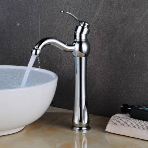 Basin Faucet Hot Cold Mixer Tap Crane Bathroom Sink Faucet Single Handle Hole Nickel Faucet Basin Taps Deck Vintage Wash LAD-413