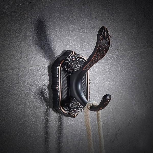 Bath Hardware Sets Brushed Copper Carved Base Bathroom Accessories Bath Towel Shelf Towel Bar Paper Holder Cloth Hook LAD-92100