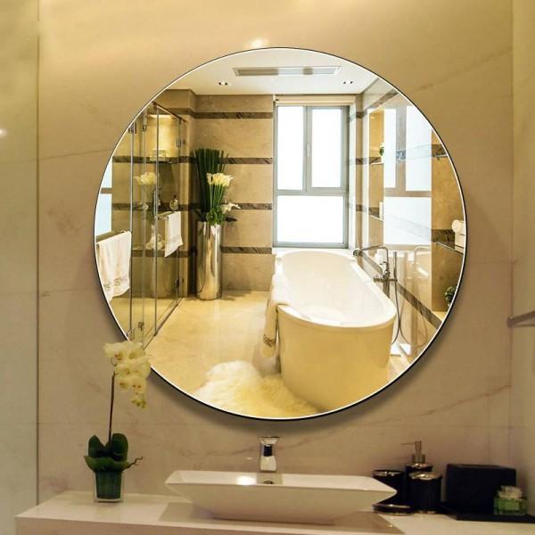 Luxury Bathroom Mirror Wall Hanging Round Bath Large Makeup Mirrors Vanity Wall Mirror For Bathroom Round Mx12151027 Bathroom Mirror Wall Hanging Round Bath Large Makeup Mirrors Vanity Wall Mirror For Bathroom Round Mx12151027