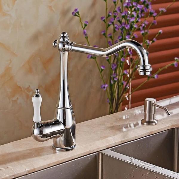 Bathroom Water Tap Basin Crane for Both Bath and Kitchen Bathroom Faucet Single Handle Kitchen Sink Faucet Mixer Tap LH-6030L
