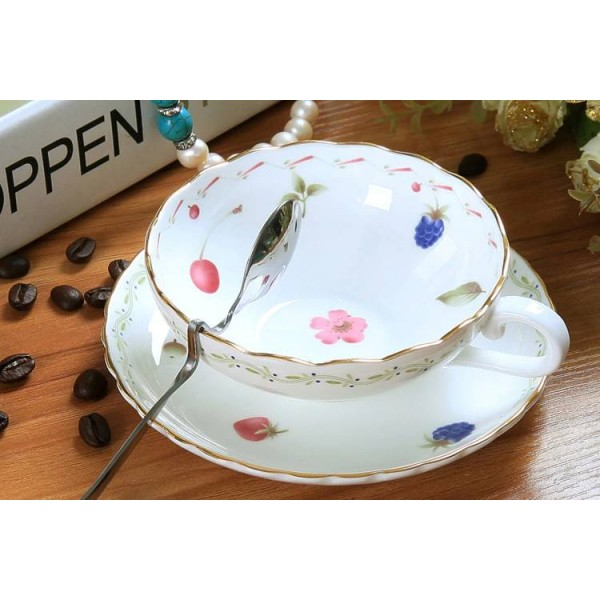 Bone cup afternoon tea cups quality coffee isonuclear allocytoplasmic fashion coffee cup and saucer set