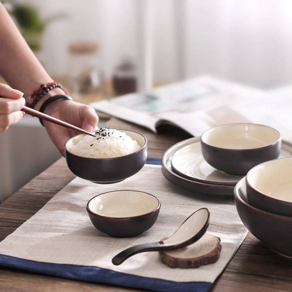 Bowl household bowl ceramic japanese style tableware rice dishes set plate