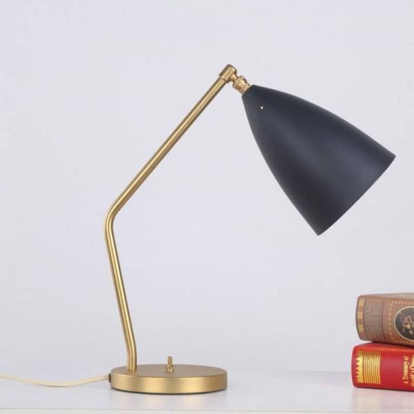 Brief modern table lamp simple desk light black white gray color gold body nordic E27 lamp bedroom lighting home art decorative