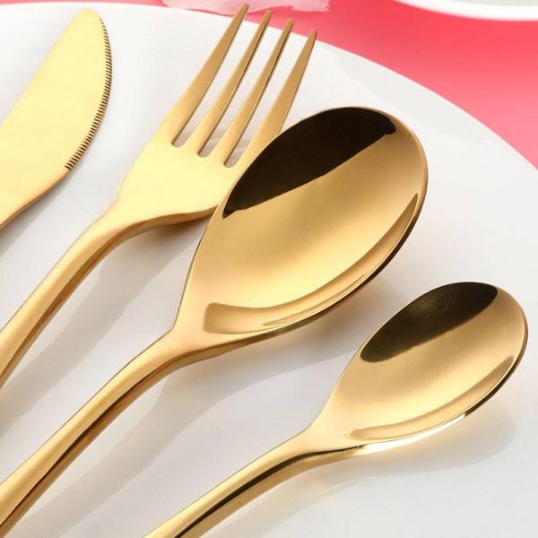 20-Piece 18/10 Stainless Steel Silverware Cutlery Set Flatware Dinner Service For 4 Western Tableware Spoon Fork Set