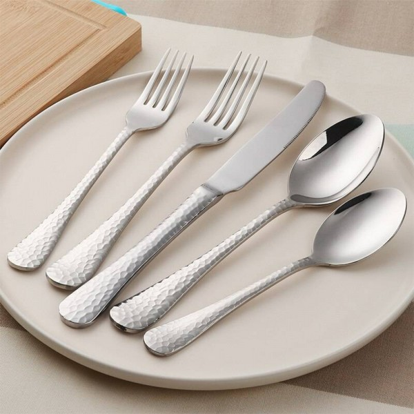 45-Piece Flatware Set Service for 8 Stainless Steel Cutlery Gold Dinner Service Include Knife Fork Spoon 4 Colors