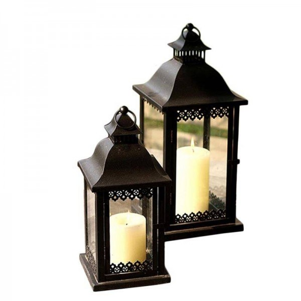 Style Candle Holder Metal Iron Art Candle Base Courtyard Hanging Lamp Romantic Wedding Decoration Adornment Crafts