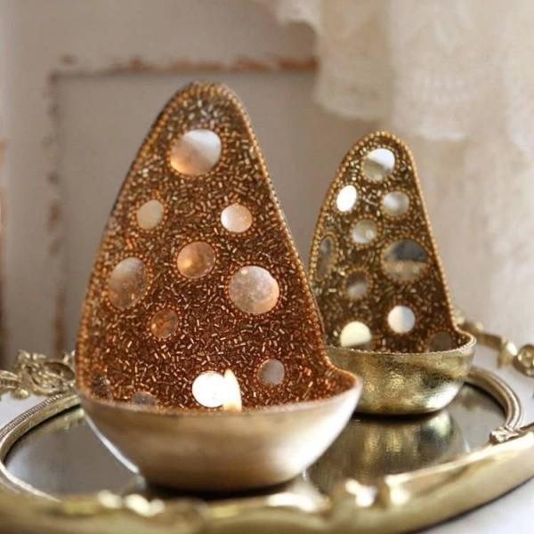 Candlestick Ornaments Wedding Set Ornaments Handmade Exotic Style Luxury Mirrored Shiny