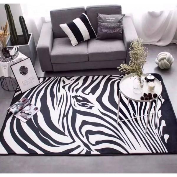 Carpet Mats zebra carpet Black and white bedroom rug living room guest room sofa bed parlor tapetes large size fashion