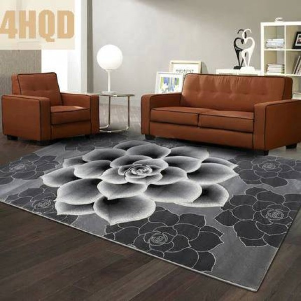 Carpet Trading item Modern Simple Living Room Carpet Bedroom Sofa Coffee Table Carved Rectangle