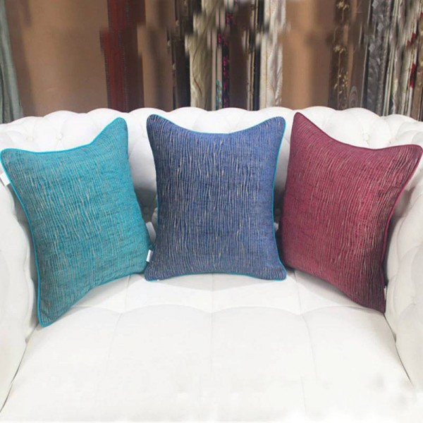 Chic Soft fine willow lines Cushion Cover Throw Pillowcases Sofa Bedding Model Room Decor Luxury Cojines Almofadas Gift