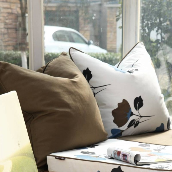 Christmas Luxury American Cushion Cover Art Leaf Solid Thicken Decorative Throw Pillow Covers Eazy Care Cojines Coussin Almofada