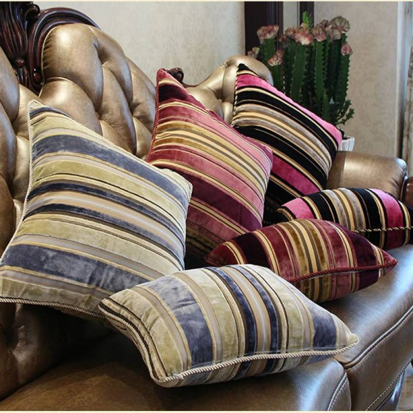 Classic Chic Luxury Enjoy Geometry Stripe Retail Sofa Car Decorative Cushion Cover Throw Pillow Case,1pc