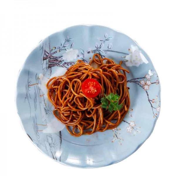 Crane Pattern Ceramic Fine Bone Lace Steak Plate for Household Tableware Hotel Spaghetti Omelette Dish Dessert Saucer Gift
