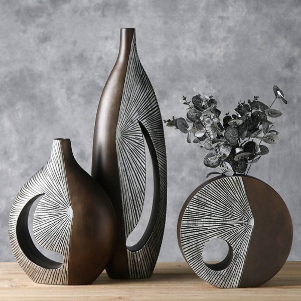 Creative Nordic dried flower vase decoration European living room flower arrangement Art Decoration Home Decoration