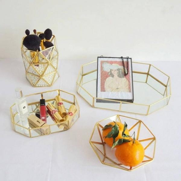 Creative Storage Box Nordic Glass Jewelry Storage Tray Transparent Glass Jewelry Box Home Decoration Ornaments