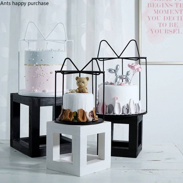 Creative Wedding dessert table decoration Bow Snack stand iron Cake stand Dessert rack Candlestick Home Decorations