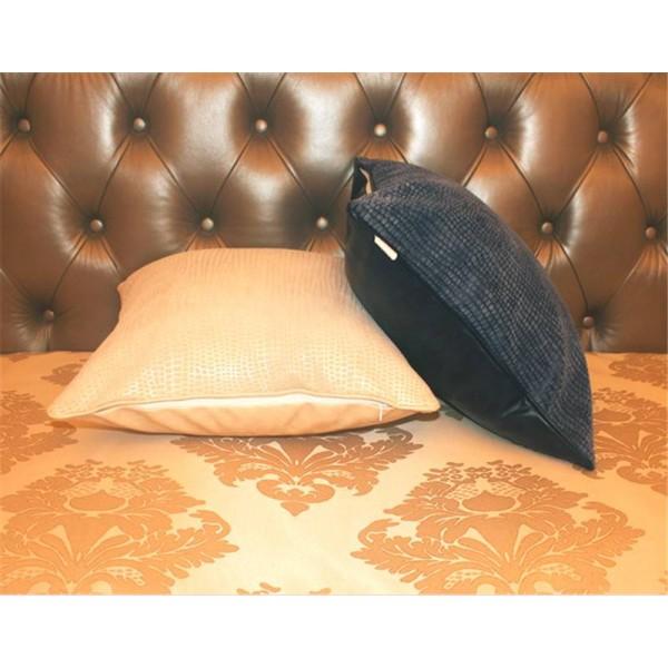 Cushion Cover Postmodern Throw Pillows Soft Leather flocking fabric Sofa Bedding Model Room Decor Luxury Cojines Almofadas