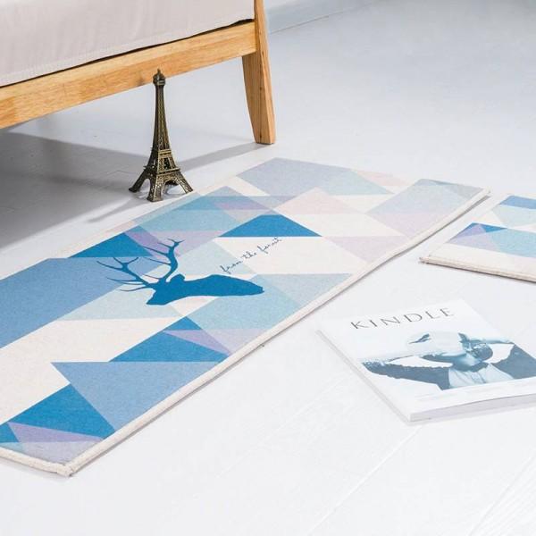 Deer head pattern MAT Square Cushion Kitchen Door Pad Bathroom Non-slip Remove dust Door Mats Table Carpet Bedding mats rugs