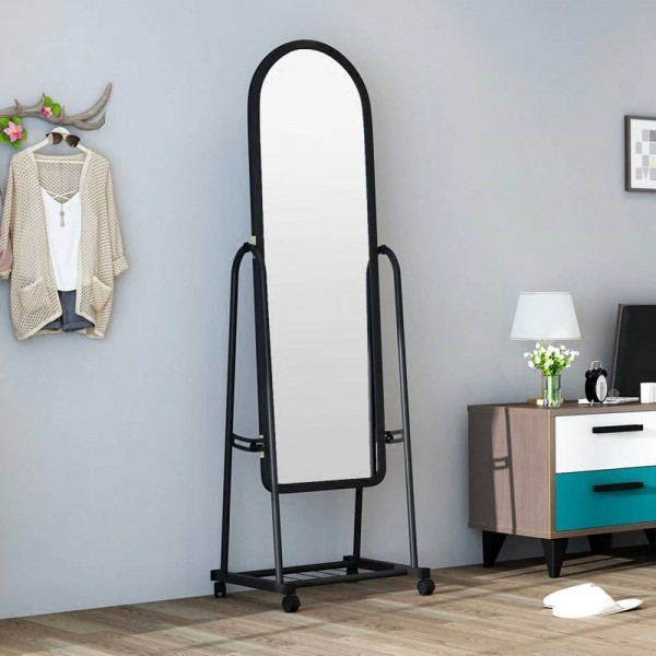Dressing Mirror bedroom full-length clothing store large fitting mirror home mobile floor simple dressing mirror wx8241341