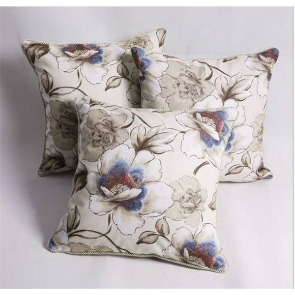 "Europe 45"" Beige flannel Pillowcase luxury/Elegant/Green/Home/Sofa/Clusters/Car Decor Cushion /PillowCases"
