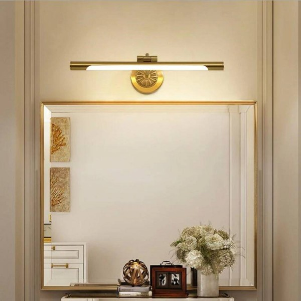 European Copper Mirror Lamp for Bathroom LED Cabinet Lamps Fashion Makeup Hanglamp Home Deco Toilet Wall Sconce Light Fixtures