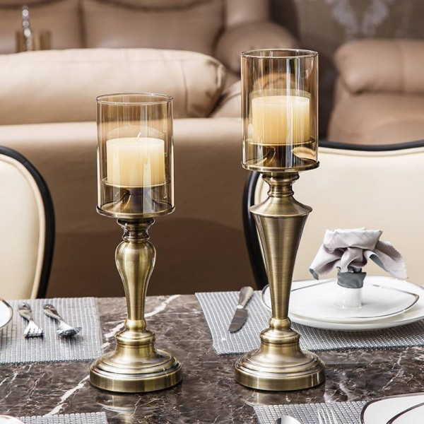 European Metal Candlestick Decoration Luxury Living Room Table Decoration Western Restaurant Model Soft Decoration Crafts