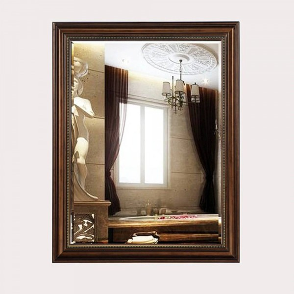 European retro bathroom mirror toilet wall hanging makeup mirror rectangular bedroom living room mirror wx8241641
