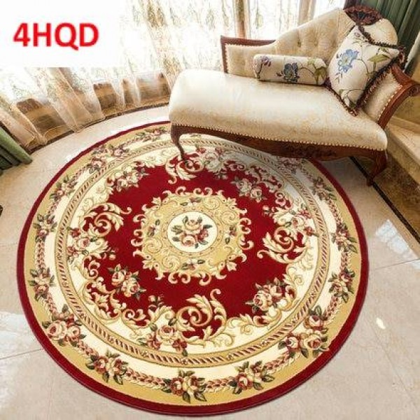 European round carpet living room bedroom hanging basket computer chair cushion household washable hand-carved scissors flower t
