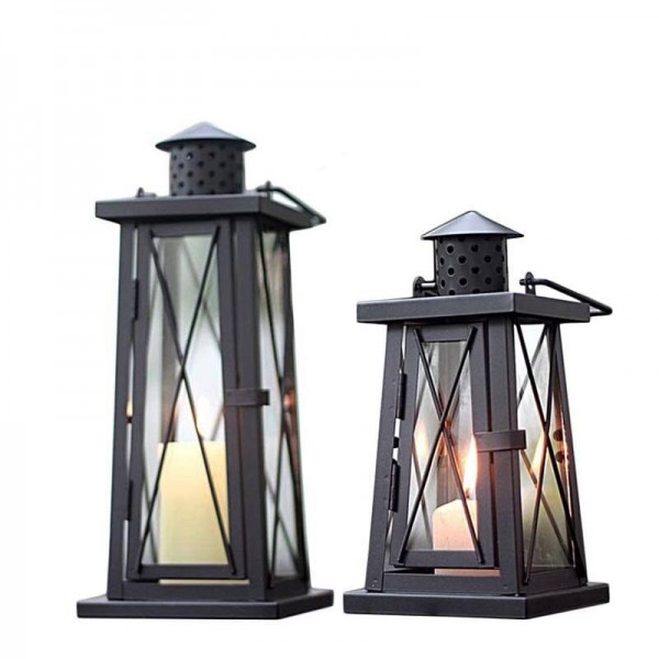 European Style Candle Holder Metal Iron Art Glass Aromatherapy Candle Night Light Romantic Candlelight Dinner Decoration Crafts