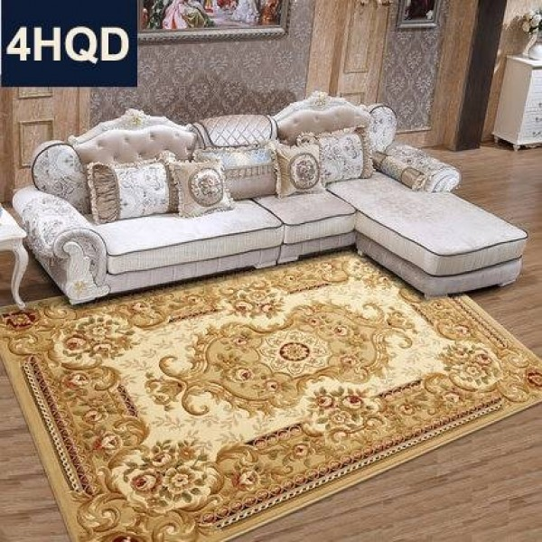 European style living room coffee table sofa carpet new handmade flower encryption thickened bedroom bed blanket