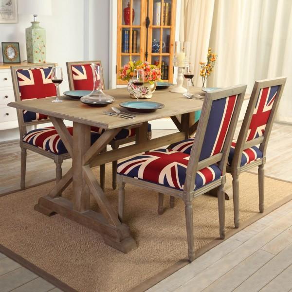 Luxury Farmhouse Rustic 64 Rectangular Oak Dining Table In Natural Color Farmhouse Rustic 64 Rectangular Oak Dining Table In Natural Color For Sale