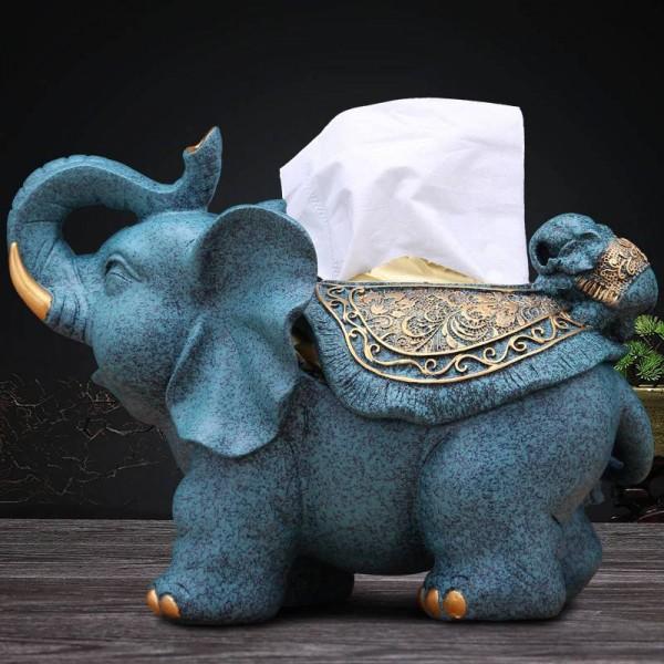 Fashion creative European retro decorative elephant tissue box study room home table decoration crafts