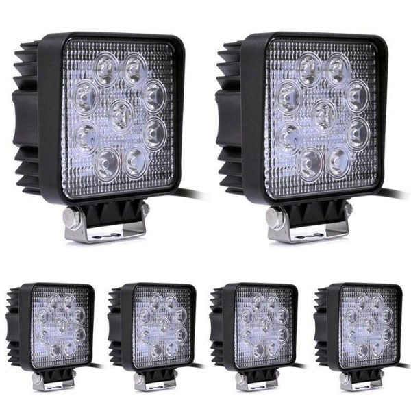 27W square LED Work Light Bar 9 X 3w led chip Flood Spot Beam Spotlight Offroad Light Bar Fit ATV outdoor light