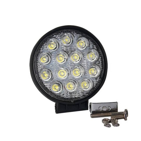 42W 7 inch LED Work Light Bar 14 X 3w led chip Flood Spot Beam Spotlight Offroad Light Bar Fit ATV outdoor light