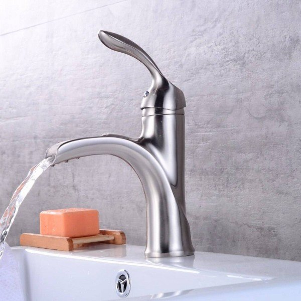 New design antique brass faucet Brushed nickel bathroom faucet black and chrome basin tap LAD-403