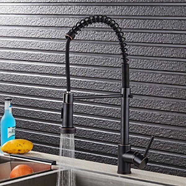 ORB kitchen faucet pull down ORB kitchen mixer sink faucet pull out brushed taps for kitchen LAD-79
