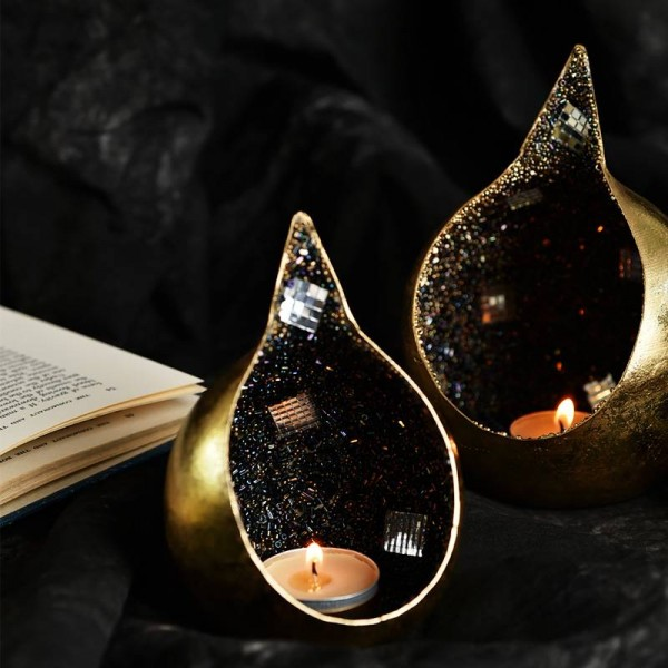 Golden Dripping Candlestick Handmade Vintage Luxury Banquet Bar Jewelry Ornaments