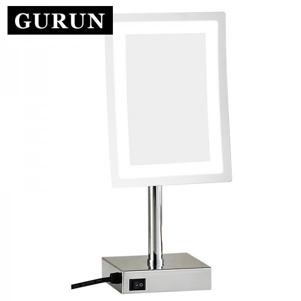 LED Make up Mirror-Adjustable Countertop 3X Magnifier Table Cosmetic Makeup Mirror LED 2239D